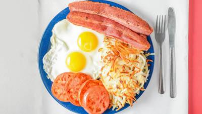 Turkey Bacon & Eggs