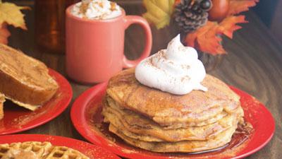 Pumpkin Walnut Pancakes